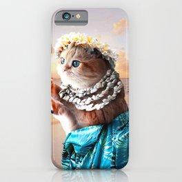 Funny Aloha Hawaiian Cat iPhone Case