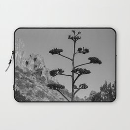 Blooming Century Plant in Black and White Laptop Sleeve