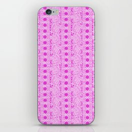 Lacey Lace - White Pink iPhone Skin