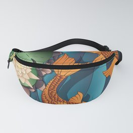 Carp Koi Fish in pond 002 Fanny Pack