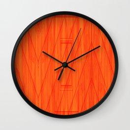 Geometry orange Wall Clock