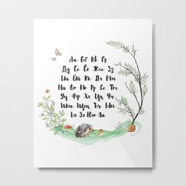 Russian Alphabet Metal Print