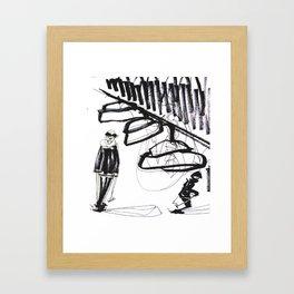 Ski time Framed Art Print