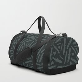 Survival Knives Pattern - Midnight Forest Duffle Bag