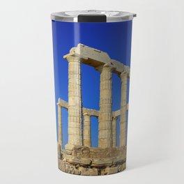 Temple of Poseidon in Sounion near Athens (Greece) Travel Mug