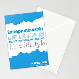 Entrepreneurship Quote Stationery Cards
