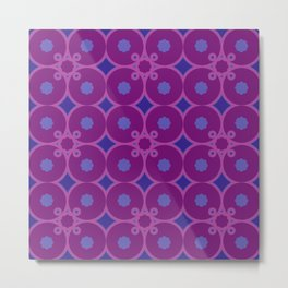 Quirky Purple Metal Print