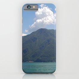 Lugano, Switzerland Lake and Alpine Mountains Panoramic photograph iPhone Case
