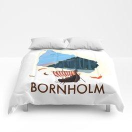 Bornholm map Comforters