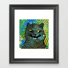 A CAT. Framed Art Print