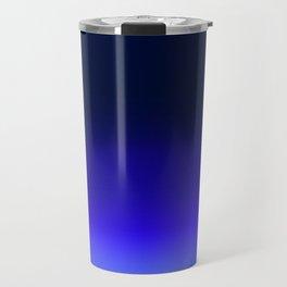 Dark to light fade - blue Travel Mug