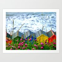 The Sea is restless today Art Print