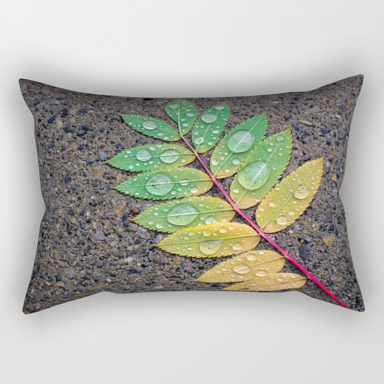 Raindrop Leaf Rectangular Pillow