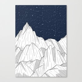 The white mountains under the stars Canvas Print