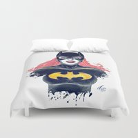 batgirl Duvet Covers featuring Batgirl by Alejandro Pinpon