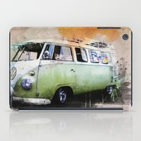 volkswagen iPad Cases featuring vintage volkswagen by d.ts