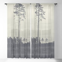 Pine tree 4 Sheer Curtain
