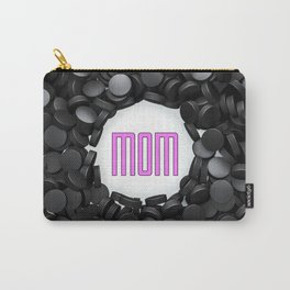 Hockey Mom / 3D render of hundreds of hockey pucks framing Mom text Carry-All Pouch