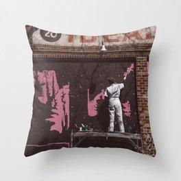 New York Street Artist II Throw Pillow