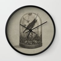 bird Wall Clocks featuring The Curiosity  by Terry Fan