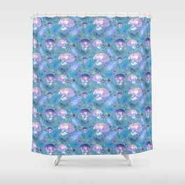 Cats and Australian Native Florals Shower Curtain