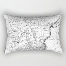 Vintage Map of Minnesota (1864) BW Rectangular Pillow