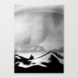 Black Space Song Canvas Print