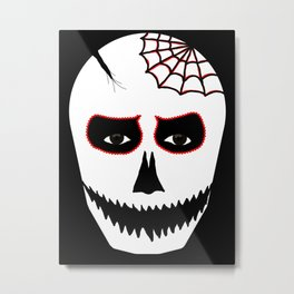 Halloween Face Metal Print