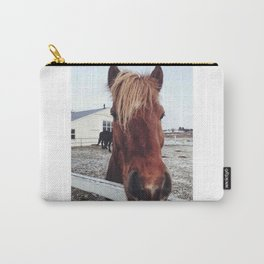 Brown horse face Carry-All Pouch