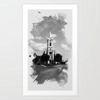heaven Art Prints featuring Heaven by Badamg