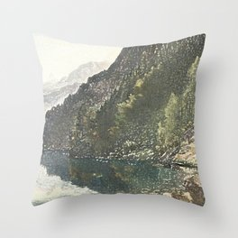 To the loch Throw Pillow