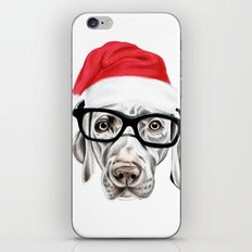 Christmas Weimaraner iPhone & iPod Skin
