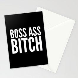 BOSS ASS BITCH (Black & White) Stationery Cards