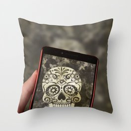 Scary Selfie Throw Pillow