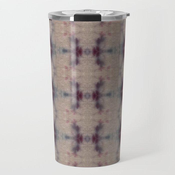 Vintage Floral Shibori Travel Mug