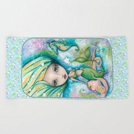Mermaid Connection Beach Towel