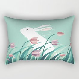 Rabbit, Resting Rectangular Pillow