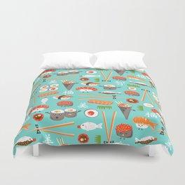 Happy Sushi Duvet Cover