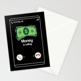 Money is calling - Funny Entrepreneur Gifts Stationery Cards