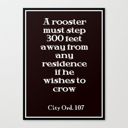 City Ord.  107 Canvas Print