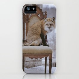 Fox on a Throne iPhone Case