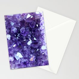 Raw Amethyst - Crystal Cluster Stationery Cards