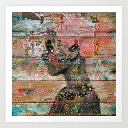 Inner Nature (Profile of Woman) Art Print