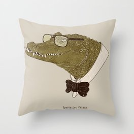Spectacle(d) Caiman Throw Pillow