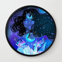Nocturnal Goddess Wall Clock
