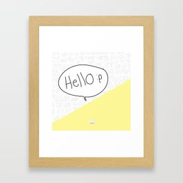 Hello :p Framed Art Print