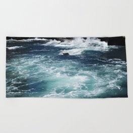 Ocean and Rocks Beach Towel