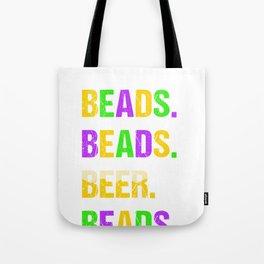 Beads Beads Beer Beads Mardi Gras Tote Bag
