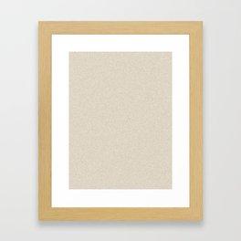 Dense Melange - White and Khaki Brown Framed Art Print
