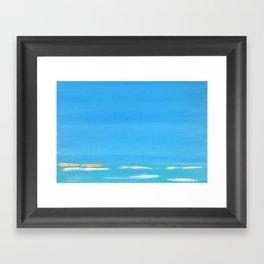 Ocean Blue (i) Framed Art Print